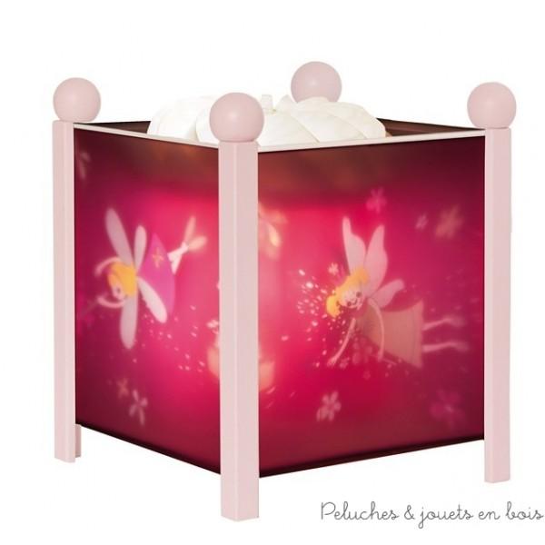 Lanterne magique de la marque Trousselier sur le thème de la Princesse de couleur rose, à partir de 0m+