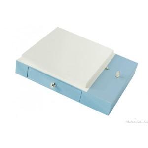 Boite à musique bleue pour compléter la Lanterne Magique de la marque Trousselier, adaptée aux tout petits dès la naissance.