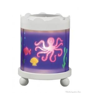 Manège lanterne sur le thème de la mer, blanc, de la marque Trousselier avec une ampoule 12V à partir de 0m+