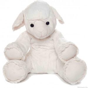 Ce grand mouton blanc est a la fois très agréable à câliner, mais aussi très décoratif dans une chambre d'enfant à laquelle il apportera une tendre note de douceur. Lavable à 30 °. Normes CE.