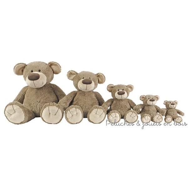 L'ours Bello de 100 cm de la marque Happy horse permet de satisfaire les désirs de tous, du cadeau de naissance au coup de coeur, il décorera la chambre des plus petits et séduira les plus grands (peluche géante 1ére sur la photo des 5 ours en peluche, le 2ème 72 cm, le 3ème 60 cm)