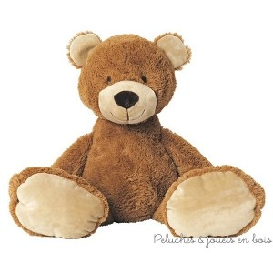 Brownie un grand ours en peluche de 40 cm de la marque Happy Horse. A partir de 0m+