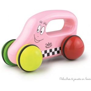 Le baby car de Barbapapa en bois peint est fabriqué en France par Vilac. A partir de 1 an+