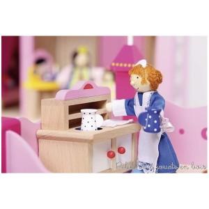 poupées articulées en bois de la maison de poupées en bois chateau royal goki