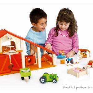 jouets en bois charismatiques pour les 3 ans 4 le cheval les animaux de la ferme les. Black Bedroom Furniture Sets. Home Design Ideas