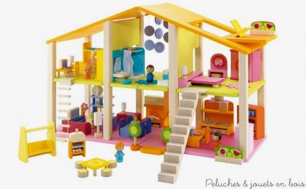 tous les styles de maison de poup es en bois sont chez peluches et jouets en bois villa. Black Bedroom Furniture Sets. Home Design Ideas