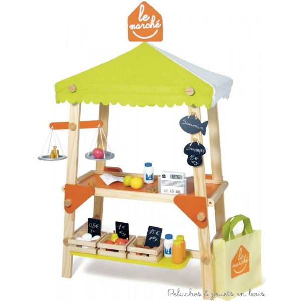 dinette en bois pour jouer la marchande 1 de la boutique d 39 picerie au mini supermarch les. Black Bedroom Furniture Sets. Home Design Ideas