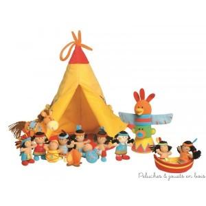 Un adorable set tipi et 10 indiens pour apprendre a compter tout en douceur en s'amusant de la marque Lilliputiens. A partir de 9 mois+