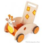 chariot de marche girafe avec frein Scratch