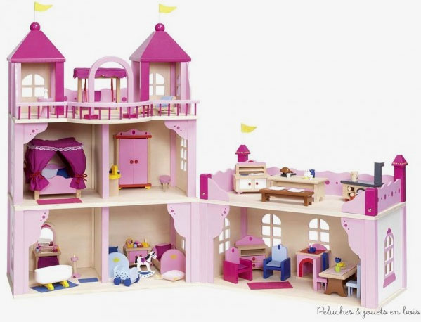 jouets en bois charismatiques pour les 3 ans 2 ch teau fort ch teau royal palais de. Black Bedroom Furniture Sets. Home Design Ideas