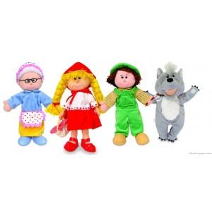 Un coffret de 4 marionnettes à main en tissus sur le thème du petit chaperon rouge pour raconter de merveilleuses histoires. La boite peut-être transformée en mini théâtre. Taille du packaging 42 x 33 cm Normes CE