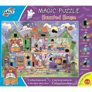 Un puzzle magique sur le thème de la maison hantée de la marque Galt. A partir de 4 ans+