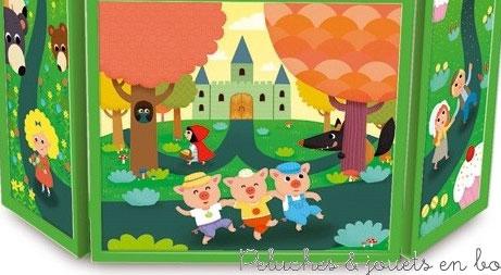 Peluches et jouets en bois vous propose l 39 histoire parmi - Fabriquer un theatre de marionnettes en bois ...
