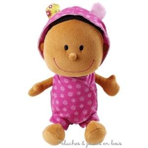 Bébé Zoé dans son couffin réversible avec poignées de la marque Lilliputiens. A partir de 9 mois+