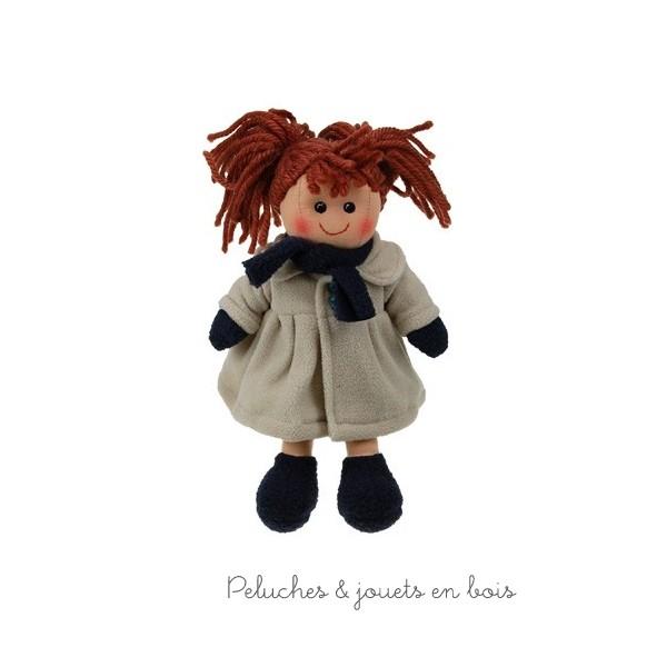 La poupée de chiffon Zoé de la marque Les Petites Marie 25 cm, est livrée dans un sac en coton pour une présentation cadeau impeccable et très appréciée. A partir de 1 an+