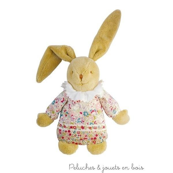 Doudou lapin boite à musique, ce lapin musical nid d'ange de la marque Trousselier est adapté aux tout petits dès la naissance. A partir de 0m+