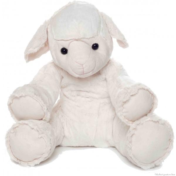 Bichon est un adorable mouton blanc de 40 cm de la marque Les Petites maries. Livré en sac coton blanc estampillé Les Petites Marie. A partir de 0m+