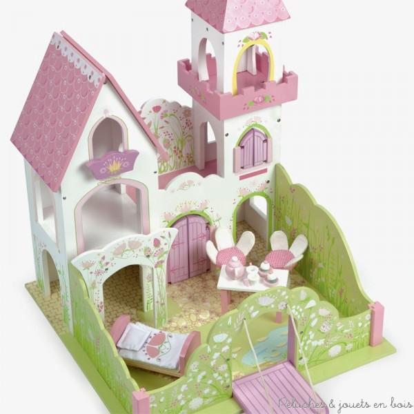 tous les styles de maison de poup es en bois sont chez peluches et jouets en bois pour voluer. Black Bedroom Furniture Sets. Home Design Ideas