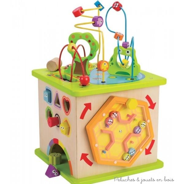 jouets d'éveil et cadeau bébé mémorable: il accompagnera les jeux et le developpement de bébé durant de très nombreux mois; jouet permettant à plusieurs enfants de jouer ensemble !