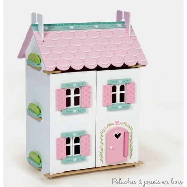 maison de poup e en bois sign e le toy van visite guid e de la maison joli c ur 3. Black Bedroom Furniture Sets. Home Design Ideas