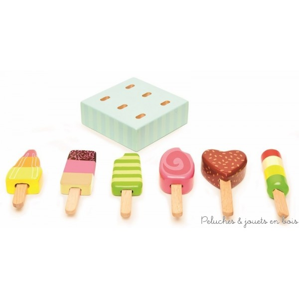 les batonnets de glace sont baptisées par Le Toy Van les glaces Lollies qui veut dire sucettes en anglais !
