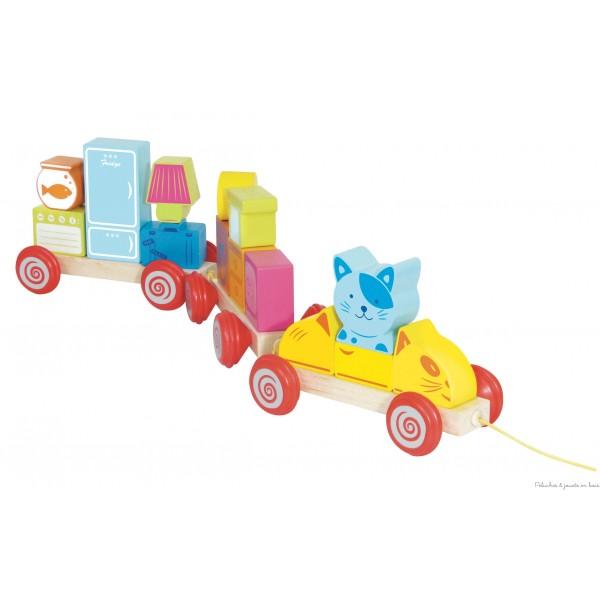 Scratchy déménage jeu magnétique de 17 pièces de la marque House of Toys pour les enfants à partir de 2 ans+