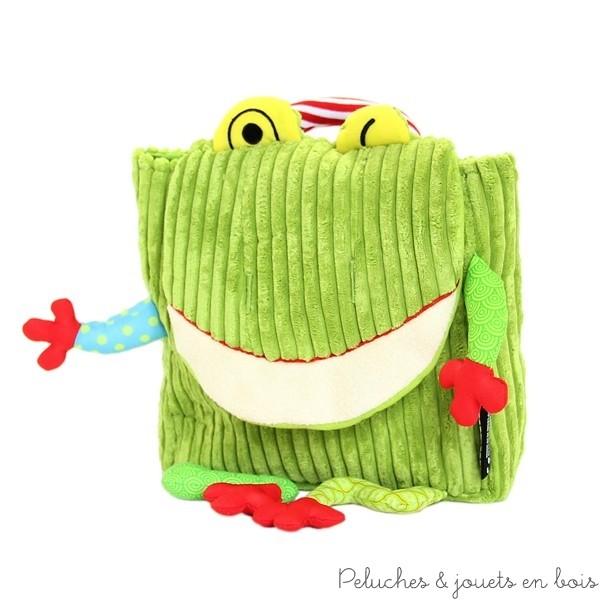 Sac à dos Déglingos Croakos la grenouille est pratique, robuste et futé : un sac qui donne un avant-goût d'indépendance pour les voyages, la maternelle, l'école ou les loisirs, pour des enfants à partir de 18 mois à l'imagination sans bornes.