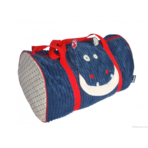 sac dos enfant peluche originale et rigolote 3 hippipos l hippopotame le personnage. Black Bedroom Furniture Sets. Home Design Ideas