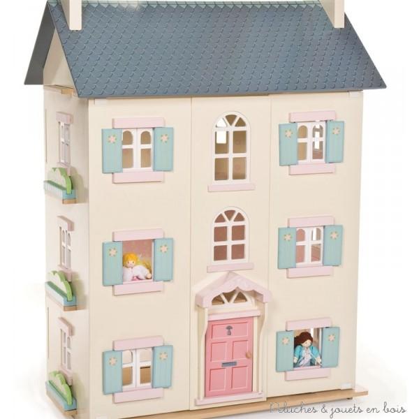 maisons de poupées de la gamme Daisylane*, aussi élégantes que sophistiquées, meubles et accessoires en bois,