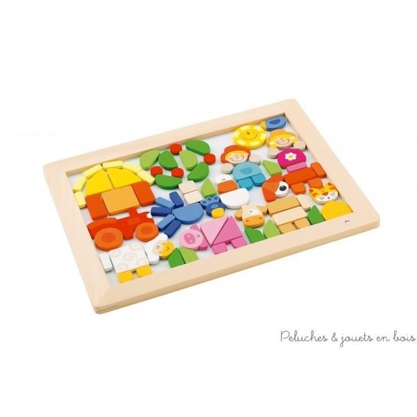 Un grand puzzle magnétique de 78 pièces sur le thème de la ferme de la marque Sevi. A partir de 3 ans+