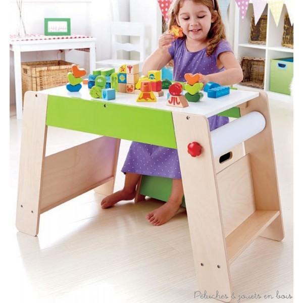 coffre jouets en bois tabouret table dessin jeu. Black Bedroom Furniture Sets. Home Design Ideas