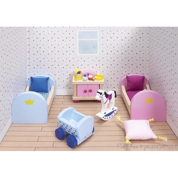 Meubles pour château de poupée, chambre à coucher des enfants