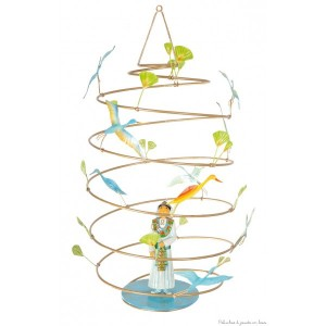 Mobile en Spirale de métal Le Prince Egyptien Tous les produits de la marque : L'Oiseau Bateau, déco chambre bébé & enfant Ref : SPI0007