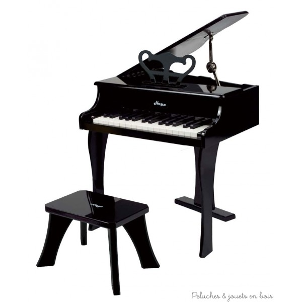 Grand piano à queue noir en bois Hape