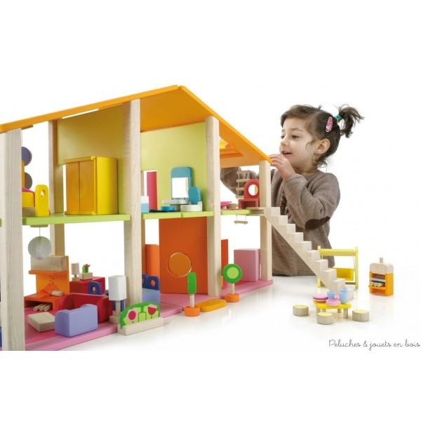 maison de poup es en bois les versions modernes toutes quip es il n 39 y a plus qu 39 choisir. Black Bedroom Furniture Sets. Home Design Ideas