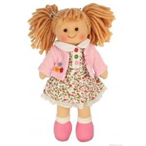 Une adorable poupée de chiffon Poppy de la marque Bigjigs. A partir de 1 an + Adorable poupée de chiffon, Poppy est gaie et colorée, idéale pour faire des câlins, elle porte une jolie tenue et est appelée à devenir très vite ta meilleure amie ! Taille 28 cm. Normes CE