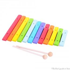 xylophone piano en bois jouet guitare pensez aux. Black Bedroom Furniture Sets. Home Design Ideas