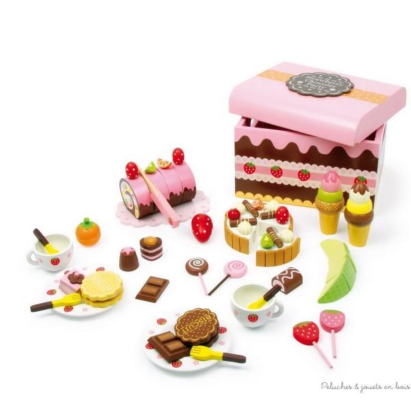 dinette en bois alimentation marchandises et cuisine en bois jouet toute la cuisine des petits. Black Bedroom Furniture Sets. Home Design Ideas