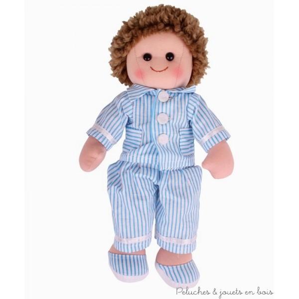 Une grande poupée de chiffon de 35 cm Arthur de la marque Bigjigs Toys. A partir d'1 an+ .