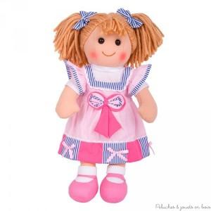 Grande poupée de chiffon Marie 38cm