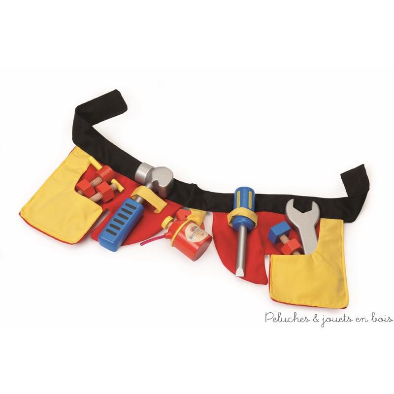 Une ceinture de bricoleur et ses outils de la marque Le Toy Van. A partir de 3 ans+