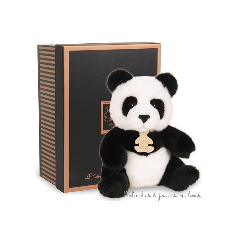 Un Panda  de la collection Les Authentiques au style réaliste soigné et tendre à la fois de la marque Histoire d'Ours. A partir de 0m+