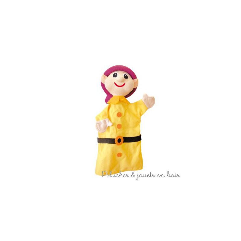 Marionnette personnage Le Nain Simplet, signée Animascena - Le Coin des enfants, marionnette à main en tissu avec une tete dure idéale pour permettre aux enfants de créer des spectacles en reprenant les contes les plus celebres dans leur petit théâtre de marionnettes. Dimensions : 27 x 15 x 8,5 cm A partir de 4 ans+