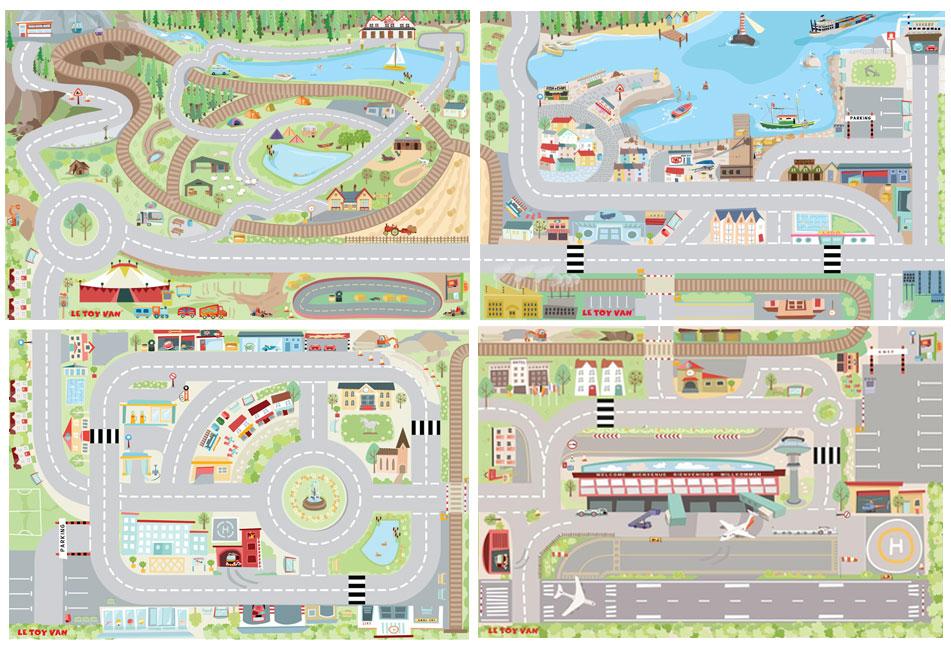 """Le tapis de jeu Ma première ville fait partie de la série """"Mon Premier tapis de jeu"""" qui comporte 4 tapis Ref TV580, TV581, TV582, TV583 qui, une fois assemblés, offre une surface de jeu vraiment géante !"""