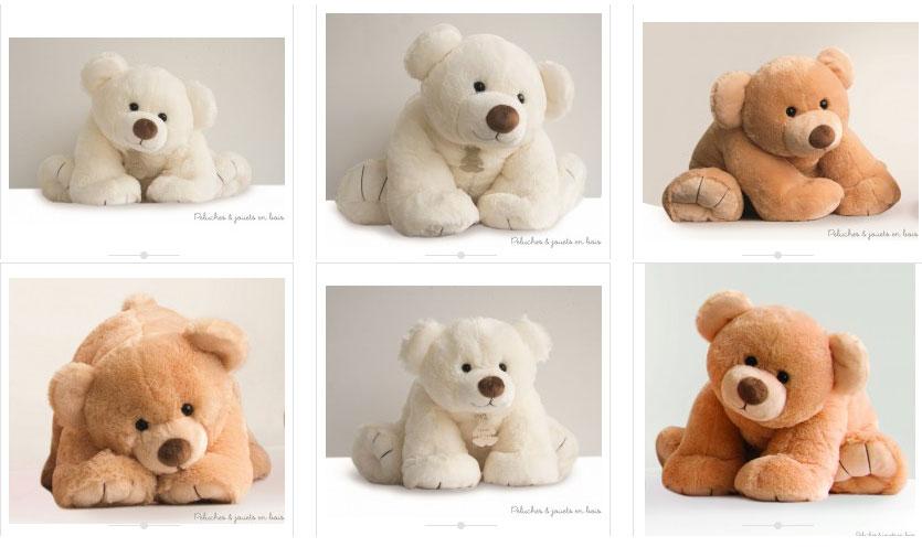 Les ours Gros'Ours écru et miel, peluches géantes signées Histoire d'Ours, sont proposés en 3 dimensions : 50 cm, 65 cm et 90 cm, articles qui sont vendus séparément sur le site.