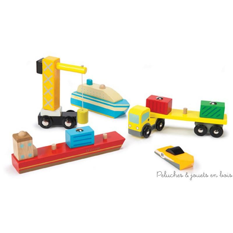installation de l'ensemble de jeu du port de la ville de lego