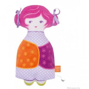 fa0d5d87f23dd8 Une poupée Tchikiboum Rosalie Rose signée l Oiseau Bateau, un joli Toudou  musical à