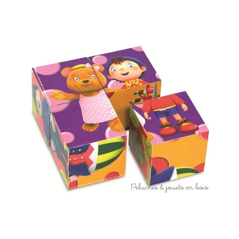 Oui-Oui et ses amis sont les héros de ces 4 cubes en bois, signé Vilac, à partir de 1 an+