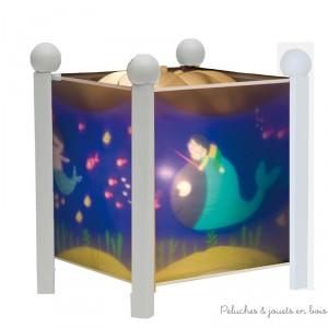 Lanterne magique de la marque Trousselier sur le thème Ninon de couleur blanche. A partir de 0m+