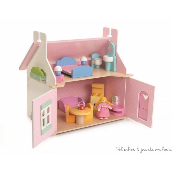 Tous les styles de maison de poup es en bois sont chez for Fenetre qui s ouvre vers l exterieur